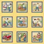 4701-893 Little Darlings Henry Glass Panneau 60cm