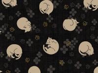 4526-535 hyakka-ryoran quilt gate fond noir