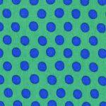 qgp7000-gree Kaffe Fassett (fond vert pois Bleu)