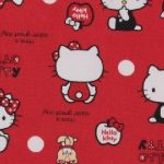 613402 Hello Kitty (fond rouge)