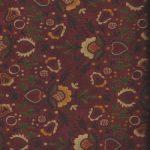 hg7074-89 Henry Glass Fleurs et Ceurs sur fond Rouge foncé